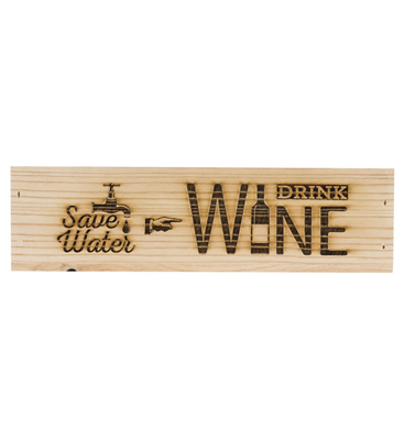 Engraved Wine Box - Save Water, Drink Wine