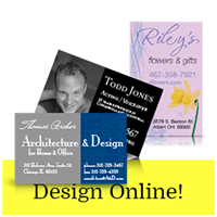 Business Cards One Sided Design Online